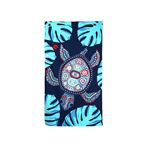 Toalla de Playa Grande Antiarena Toalla 100% Microfibra 90x170cm Toallas de Piscina Grandes Suave y de Secado Rápido - Tortuga