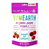 YumEarth オーガニック ビタミンCポップス 14本 各3 oz (85 g)[海外直送品]