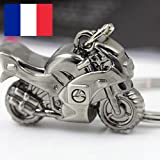 SparkTime - Porte-Clés Moto en Métal - Porte-Clefs Moto en Métal - Idéal pour Un Cadeau !