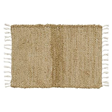 VHC Brands Classic Country Farmhouse Flooring - Burlap Natural Tan Chindi/Rag