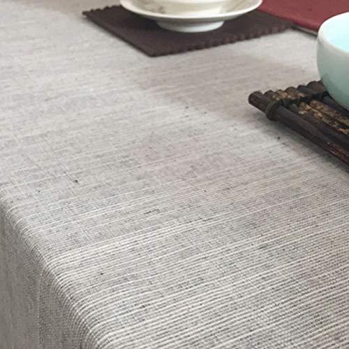 Creek Ywh blauw tafelkleed Nordic eenvoudig waterdicht tafelkleed tafelkleed salontafel vierkant bureau stof, sober-lichtgrijs, 130 * 220 cm