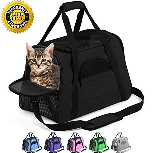 Prodigen Pet Carrier Airline Approved Pet Carrier Dog Carriers for Small Dogs, Cat Carriers for Medium Cats Small Cats, Small Pet Carrier Small Dog Carrier Airline Approved Cat Pet Travel Carrier-Pink