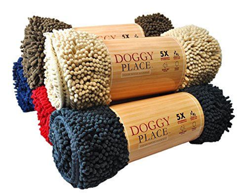 My Doggy Place - Ultra Absorbent Microfiber Dog Door Mat, Durable, Quick Drying, Washable, Prevent Mud Dirt, Keep Your House Clean (Oatmeal, Runner) - 60 x 36 Inch
