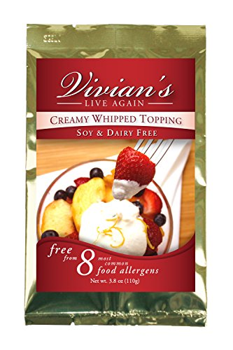Vegan Whipped Cream Replacement, Dairy Free, Soy Free, Gluten Free, Coconut Free,...