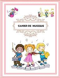 Cahier de musique: Carnet de partitions  Cahier de Musique 106 pages pour la Composition Musicale   Papier manuscrit  12 portées par page - Grand format (French Edition)