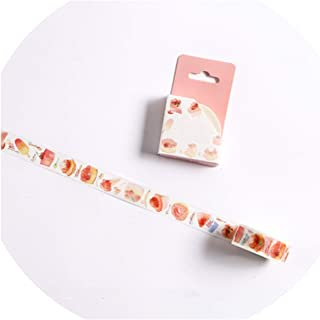 15/30mm Zoo Fruit Paper Decorative Masking Tapeese Stationery Crafts and Scrapbooking Cute Tape,H