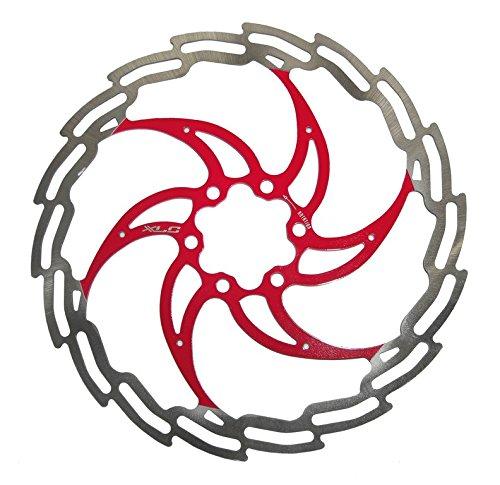 XLC Unisex– Erwachsene Bremsscheibe BR-X02, Silber, Rot, One Size