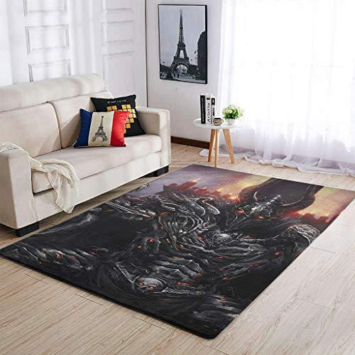 AXGM Alfombra moderna de guerrero vikingo, para salón, dormitorio, porche, decoración blanca, 50 x 80 cm