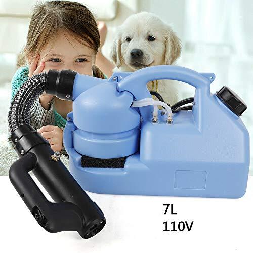 ZHFEISY 0-50 Micron Ultra Fine Electric ULV Sprayer Fog Machine - 1.85 Gallon/7L Fogger Atomizer Sprayer - 1000W 6M-8M Power Sprayer for Sterilization/Disinfection/Mosquito Killer 2~8 for DELIVERY