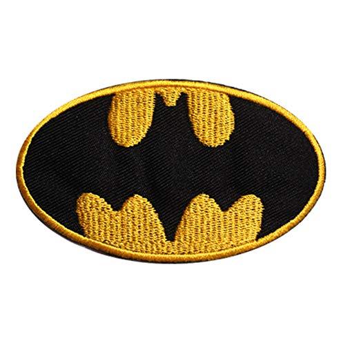 Parche bordado para coser o planchar, diseño de superhéroe de Batman