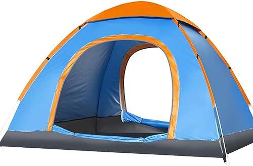 Tente de Sports de Plein air Camping abris solaires, 2 3 4 Personne Camping Tente sac à dosing tentes Facile à Installer imperméable à l'eau,bleu,1 2Person