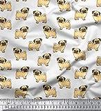 Soimoi Dressmaking Mops Hund Print 58 Zoll breit dekorative