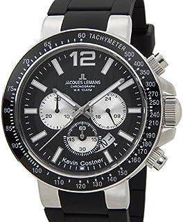 ジャック ルマン Jacques Lemans 日本限定モデル メンズ 腕時計 11-1768A-1 JACQUES LEMANS ケビンコスナー・コレクション ミラノ クロノグラフ ラバー [並行輸入品]