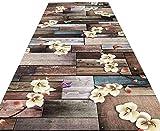 Patrón Pasillo de alfombras Corredor Floral en Tela Escocesa Resistente Lavable a máquina Sucia Área Soft Alfombras for el Patio Trasero Paseo 320 (Size : 1.1×3m)