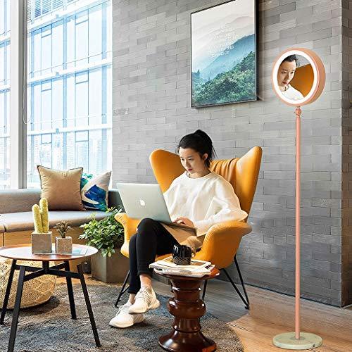 Lampadaires- Lampadaire réglable salon simple moderne macarons créatifs nordique éclairage à double face lampe de table verticale miroir LED lumières (Couleur : Pink)