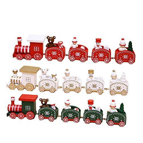 Allsunny Zug Modell Weihnachten Schneemann Bär Desktop Ornament Kinder Spielzeug Weihnachten rot SNone