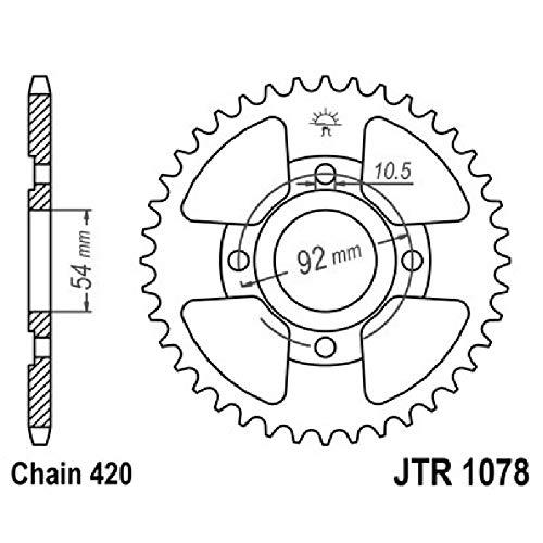 520 X1R2 JT Sprockets JTC520X1R2116DL Steel 116-Link Heavy Duty X-Ring Drive Chain