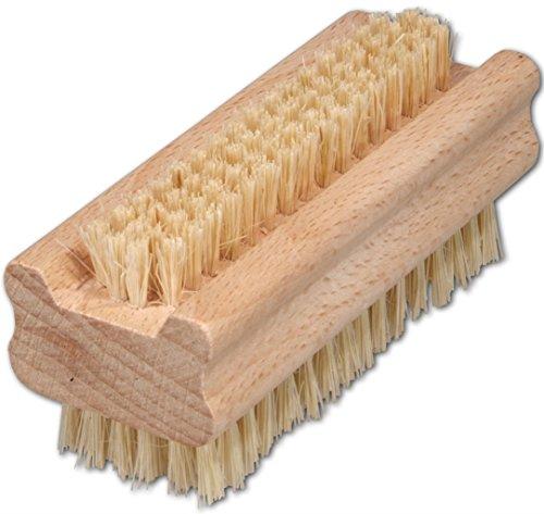 Holz-Nagelbürste, echt Fibre, 9,5 cm, robuste Handwaschbürste, ideal für gründliche Reinigung...