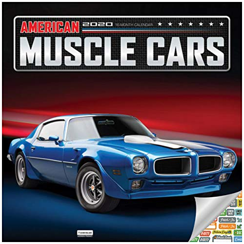 American Muscle Cars Calendar 2020 Muscle Cars Wall Calendar Bundle Includes Over 100 Calendar Stickers