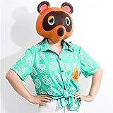 Animal Tom Nook Headgear Mask Tanuki Full Head Helmet Raccoon mask for Halloween Cosplay Prop.(Brown)
