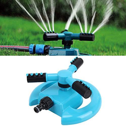Luoshan Ugello Rotante Automatico Garden Ugello irrigatore for Prato da Giardino Automatico Rotante a 360 Gradi, applicabile for Tubi dell'Acqua da 3/4 di Pollice (Blu)