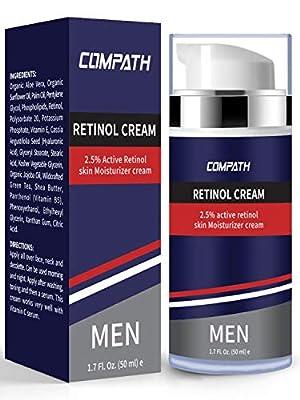 Retinol Face Cream, Compath Premium Retinol Cream Face Moisturizer with Retinol, for Wrinkles, Fine Lines, Skin Tone & Acne Scars.