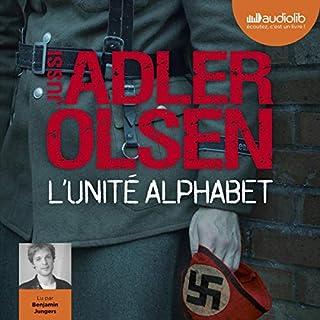 L'Unité Alphabet                   De :                                                                                                                                 Jussi Adler-Olsen                               Lu par :                                                                                                                                 Benjamin Jungers                      Durée : 16 h et 33 min     45 notations     Global 4,4