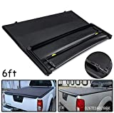 Speedmotor Soft T3 Tri-Fold Truck Tonneau Cover Replacement for Nissan Frontier 2005-2019/ for Suzuki Equator 2009-2014   Fleetside 6' Bed   for Models with or Without The Utili-Track System.