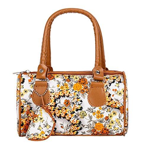 Beikoard Vendita Calda Borsa a Tracolla Tote Ladies Handbag Ricamata a Spalla da Donna (Marrone)