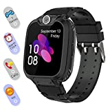 Smart Watch for Kids Boys Girls - Touch Screen Game Smartwatch with Call SOS Camera 7 Games Alarm Clock Music Player Record for Children Birthday Gifts 3-10 Kids Phone Watch with 1GB SD Card (Black)