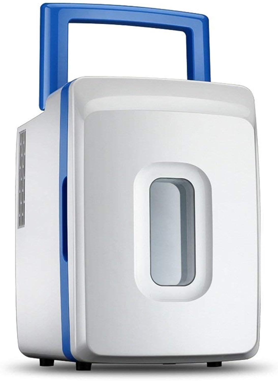 Shopping- 12 liters Mini Fridge Car Refrigerator Portable Refrigeration Heating Fridge (color   bluee)
