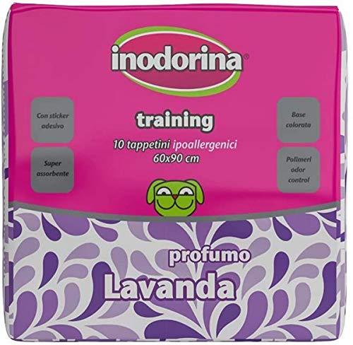Inodorina Tappetino igienico per cani al profumo di lavanda, 60 x 90 cm, 10 pezzi