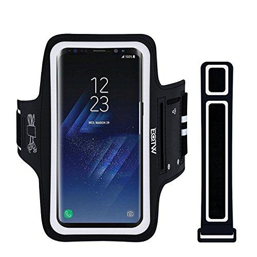"""EOTW Brassard Sport Compatible pour Samsung S8 Plus/S9, Huawei P30 Pro, iPhone XS Max, Brassard téléphone avec Espace pour Cartes clés écouteurs, Bon Maintien pour de Course Jogging Vélo 6,2"""""""