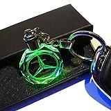 VILLSION 7 Couleurs Changeantes Voiture Mercedes Benz Porte-clés avec Logo LED...