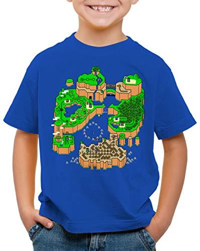 CottonCloud Mario Mapa Camiseta para Niños T-Shirt Consola de Videojuegos SNES n64,...