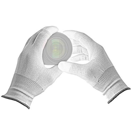 VSGO Antistatische Handschuhe mit PU-Beschichtung weiß 'staubfrei, vakuumverpackt' fuer DSLR & Objektive - DDG-1