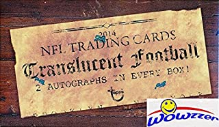 2014 Topps Translucent NFL Football Factory Sealed HOBBY Box with TWO(2) On-Card AUTOGRAPHS! Look for AUTOGRAPH RC'S of JI...