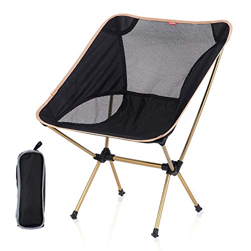 NA Silla de Camping portátil, Silla de Playa, con Amplio y cómodo Asiento, Estructura Estable, para al Aire Libre, Campo, Picnic