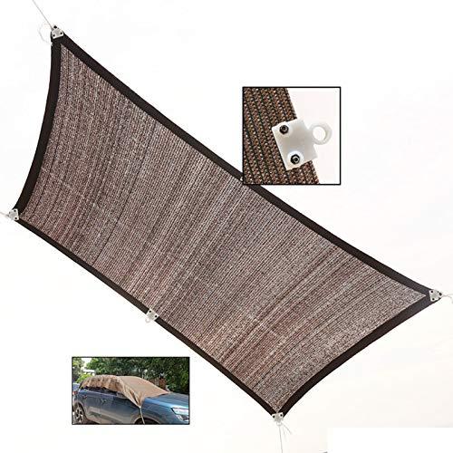LJIANW Filet D'ombrage Toile d'ombrage, Auvent Carré Bloc UV À Toute Épreuve Extérieur Patio Carport 185 G / M2, Facile À Installer (Color : Brown, Size : 1x1m)