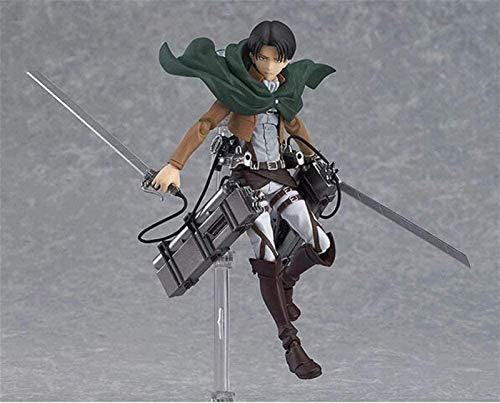 JPSOUP Attack on Titan Anime Figure Eren Mikasa Levi Ackerman Figma 213 PVC Action Figure Collectible Model Toy Collection Gift 15cm