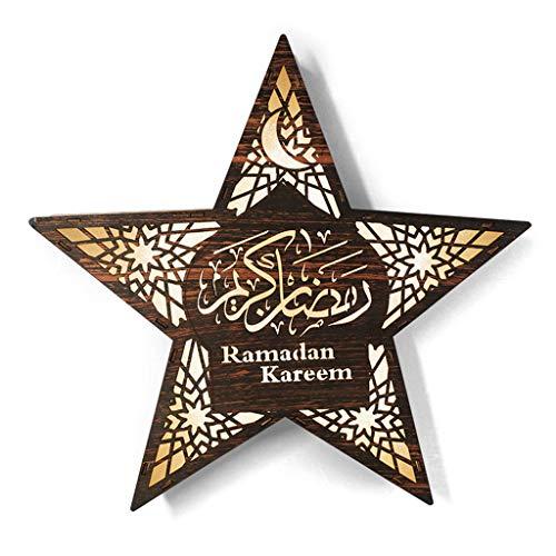 LED Wandleuchte, Ramadan Festival Star Lights Elegantes Dekorationslicht Aus Holz Von R-WEICHONG