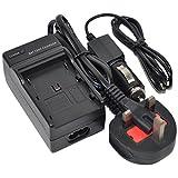 BP-820 Cargador de batería AC/DC Wall/Car Single para Canon BP820 BP-828 BP828 BP-807 BP-808 BP-808D BP-809 BP-819 BP-819D BP-827 BP-827D CG-800 CG-800E VIXIA HF G20 G30 XA20 XA25 Video Camcorder