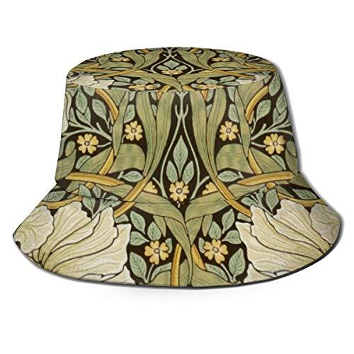 Meiya-Design Unisex Fischerhut, William Morris Pimpernel Vintage Pre Raphaelite Fischerhut Sommer Outdoor verstaubare Kappe Reise Strand Sonnenhut