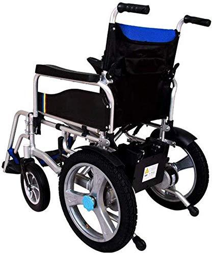 TYZXR Elektromotorischer Leichter, Faltbarer Doppelfunktions-Elektrorollstuhl Schreibtischlange Arme und anhebende Beinstützen, Fahren mit Kraft oder Verwendung als manueller Rollstuhl