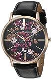 Vince Camuto VC/5322FLBK Reloj de mujer con correa de piel en tono oro rosa y negro