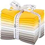 Robert Kaufman Kona Cotton Solids Sunny Side Up Fat Quarter Bundle