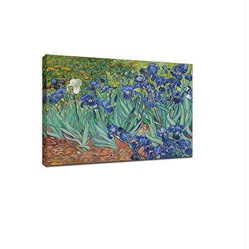 Wieco Art - Irises Modern Stretc...