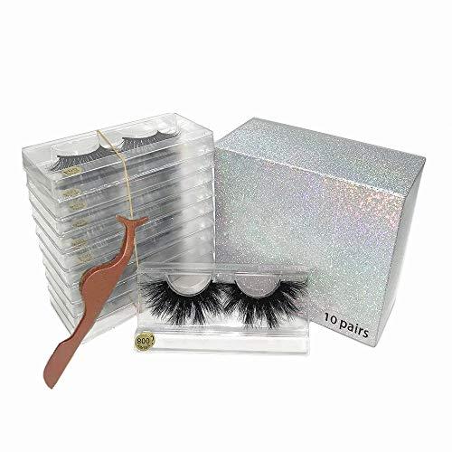 U-Hotmi 5D Mink Eyelashes Wholesale Makeup Dramatic Mink Lashes Bulk 25mm False Eyelashes Mink(8 Styles, 10 Pairs)