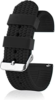 Silicone Watch Band for Men and Women - Quick Release Replacement Watch Strap - 18mm 20mm 22mm 24mm - Multiple Colors - Stylish and Comfortable Watch Band Replacement