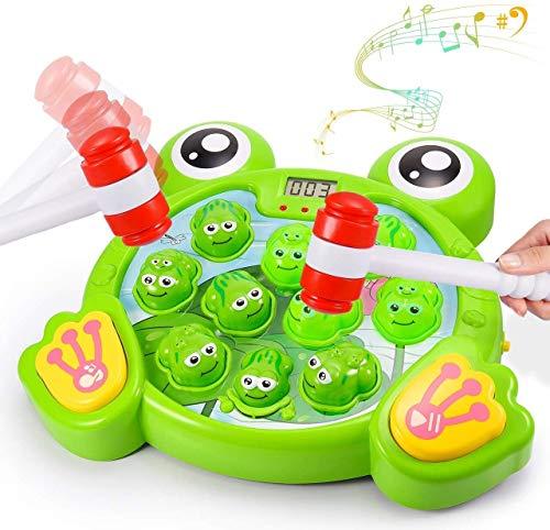 Interaktive Whack A Frog Game, Durable Stampfen Spielzeug, hilft Feinmotorik, Spaß-Geschenke for Kinder ab 3 Jahren, 4,5 6 Jahre alt Kind-Kleinkind-Jungen-Mädchen 2 Hammers inklusive ( Farbe : Grün )